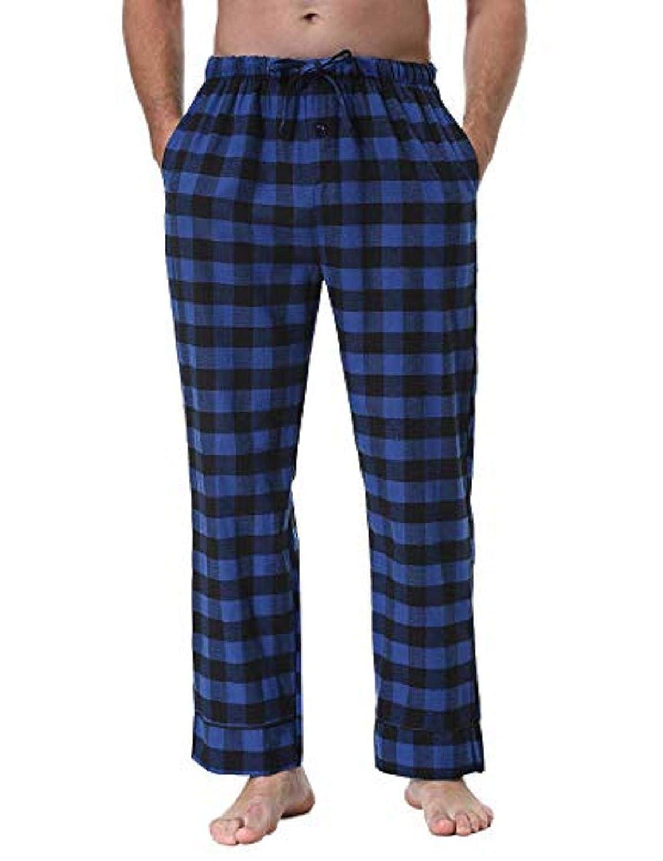 Abollria Pantalones de Pijama a Cuadros para Hombre Lounge Wear Pijama Pantalones de Bottoms
