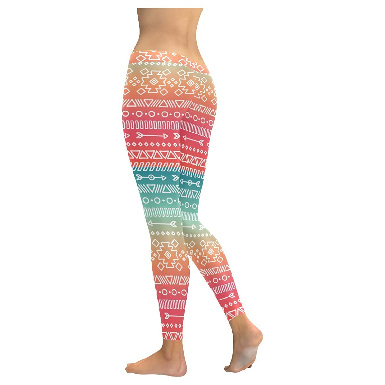 Graphic geometric ethnic tribal print Low Rise Ladies yoga running Leggings:  Amazon.co.uk: Clothing