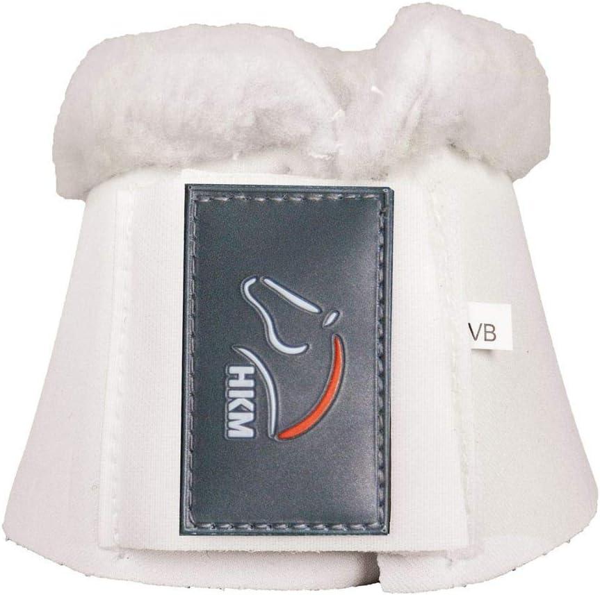 HKM 85861200.0652 Comfort - Campanas para Caballo con Acolchado, Color Blanco