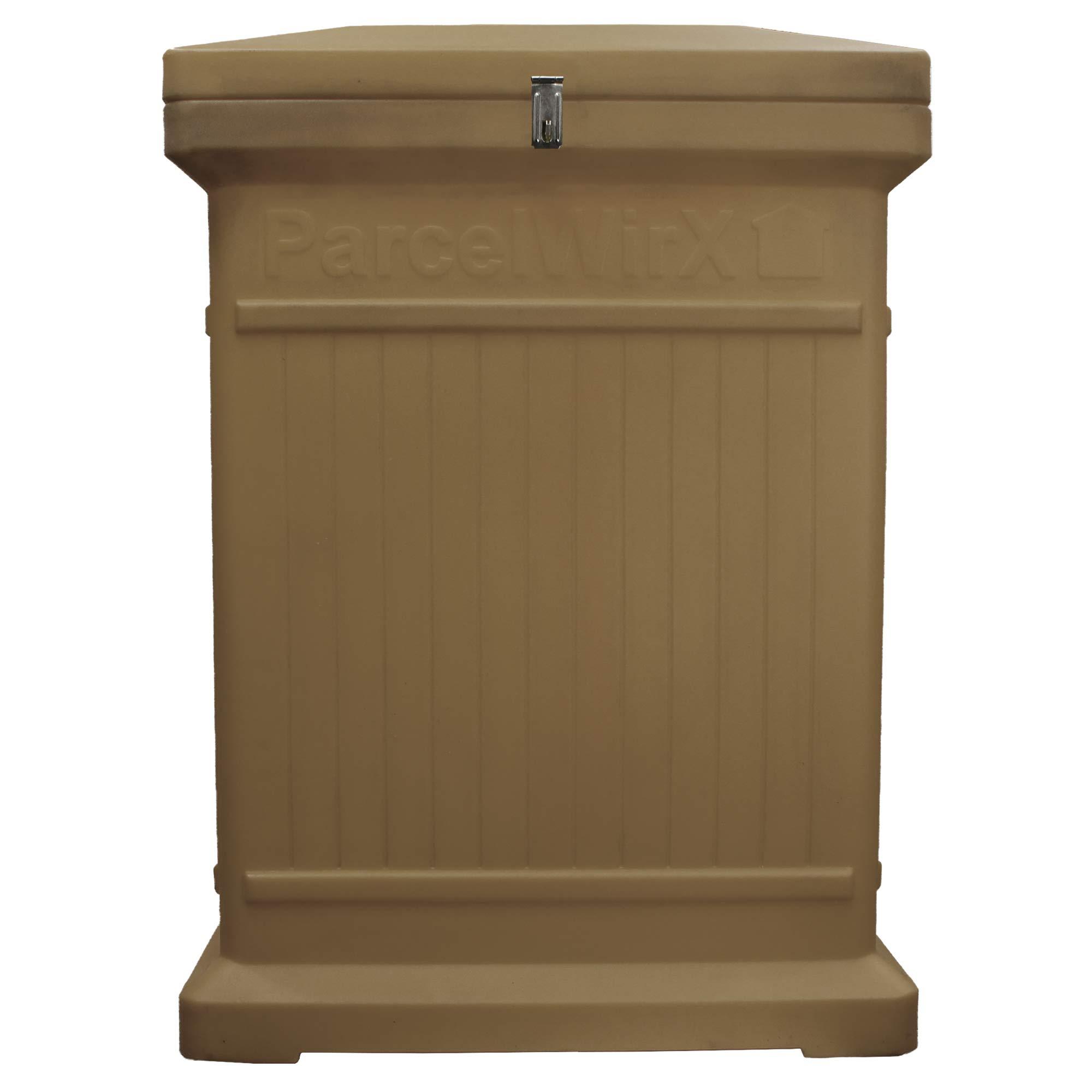 RTS Companies Inc. 550200400A5481 Parcelwirx Premium Vertical Delivery Drop Box w/Hinged Lid, Oak