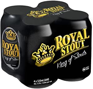 Danish Royal Stout Can, 320ml, (Pack of 4)