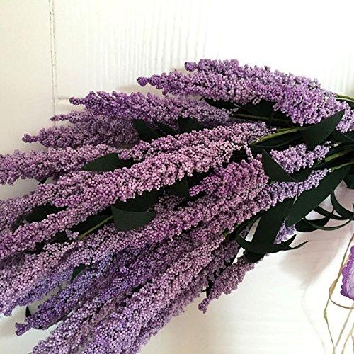 Adeeing 26-Inch Lavender Swag, Arch Wreath Centerpiece, Purple