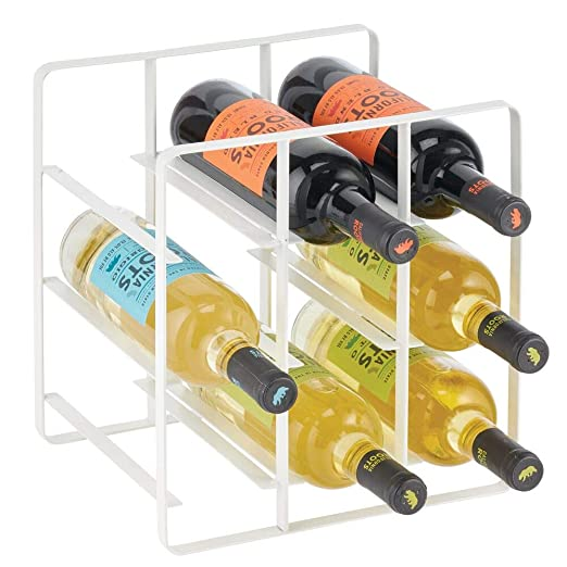 mDesign Estante para vino y otras botellas - Atractivo soporte ...