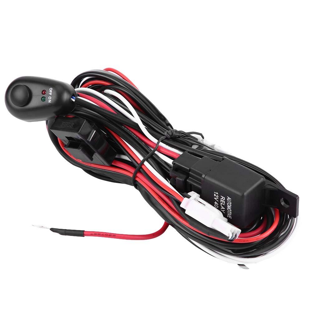 #2 interruptor de alimentaci/ón para autom/óvil y kit de arn/és de cableado para barra de luz LED Interruptor de alimentaci/ón para autom/óvil