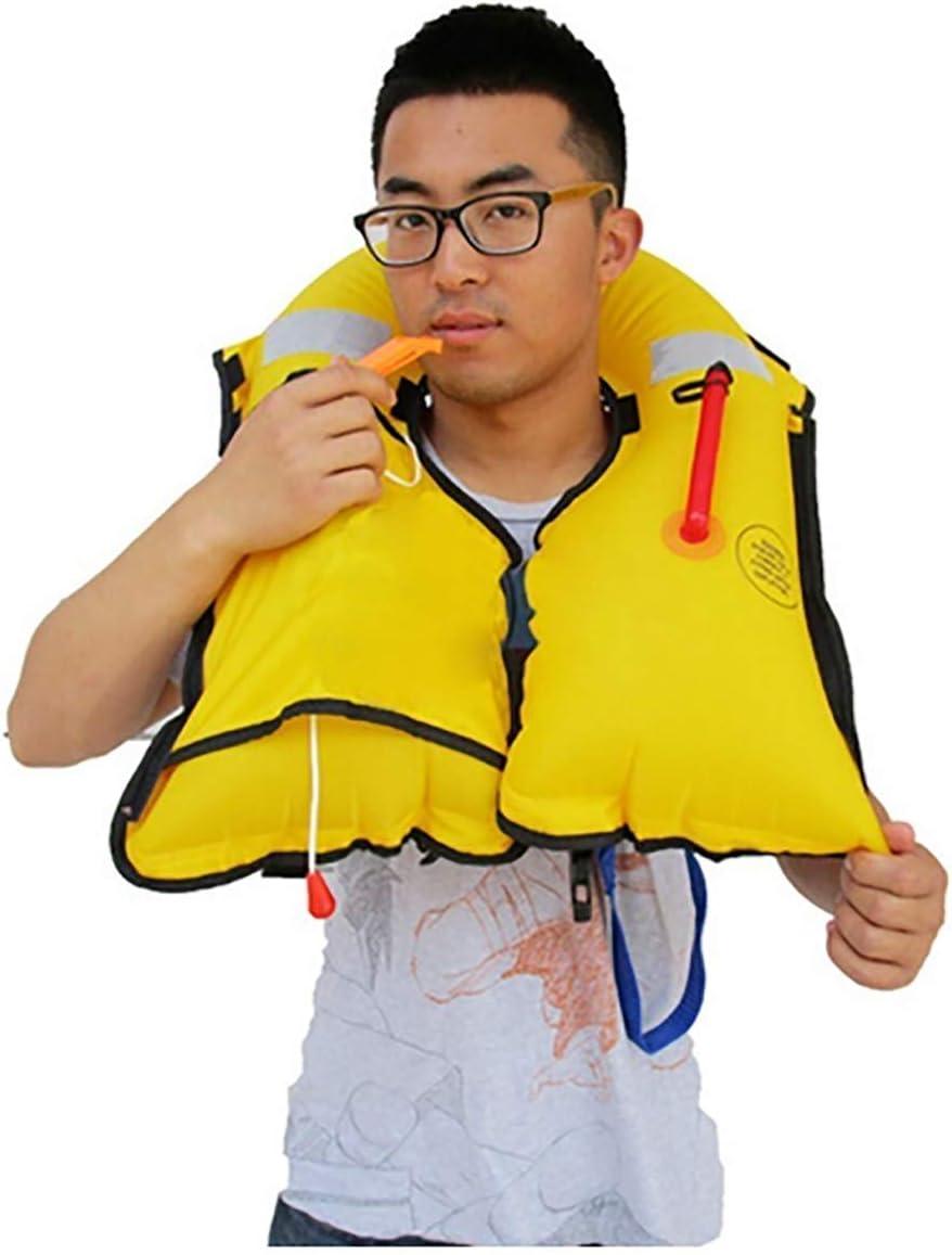Vie Automatique Gonflable Veste Professionnelle Adulte Swiming P/êche Gilet De Sauvetage Maillots De Bain deau Natation,Camouflage La Vie De Haute Qualit/é Veste