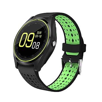 QTEC Reloj Inteligente Bluetooth Verde Smart Watch Cámara ...