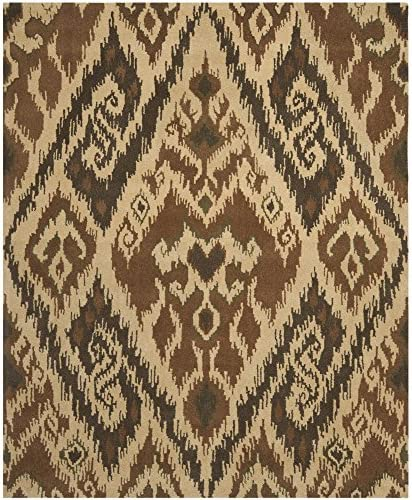 Safavieh Capri Collection CPR351B Handmade Multi and Brown Premium Wool Area Rug 8 x 10