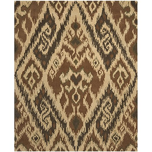Momeni Rugs New Wave Collection, 100 Wool Hand Carved Tufted Contemporary Area Rug, 5 9 Round, Burgundy