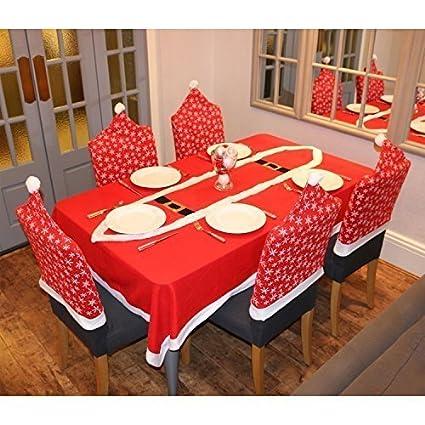 Robelli Pack de 6 Fundas para sillas de Navidad, diseño de Copo de Nieve