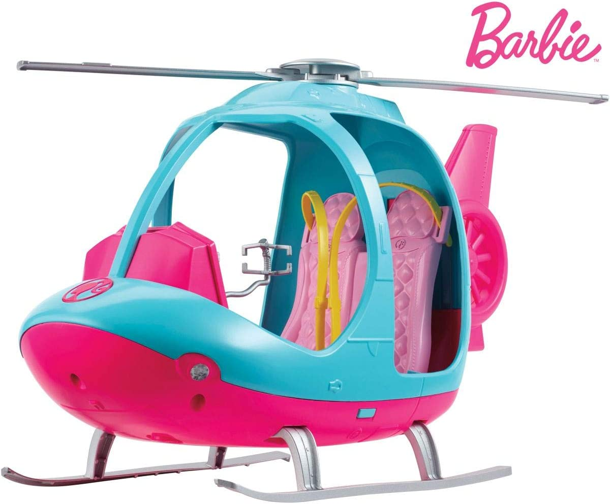 Barbie Dreamhouse Adventures Helicopter, Pink and Blue with Spinning Rotor, for 3 to 7 Year Olds: Toys & Games