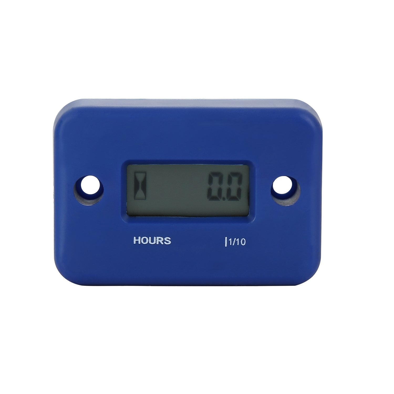 Inductive Hour Meter Waterproof LCD Display Hourmeter Gauge for Motorcycle ATV Snowmobile Marine Boat Yama Ski Dirt Generator (Blue) kosiwun