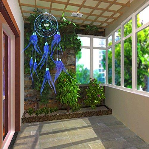 Viento Campana Cazador de Sueños Con Plumas Colgando de Pared de Regalo de Arte de Decoración