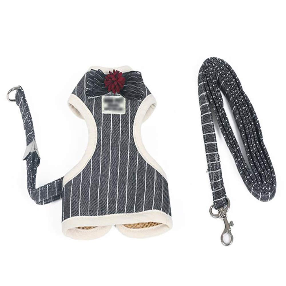 1001-M Dog Leash, Vest-Type Traction Rope Medium-Small Dog Leash Cat Chain Hyena Rope Pet Chest Strap Supplies (color   1001-M)
