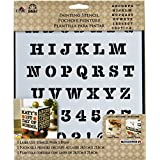 FolkArt Large Painting Stencil, 30738 Heavy Typewriter Alphabet