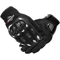 Romacci Luvas de motocicleta masculinas com tela sensível ao toque de dedo completo motocicleta motociclismo…