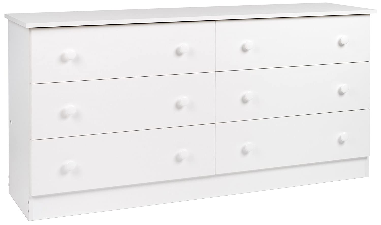 Prepac WHD-5828 6-Drawer Dresser (White)