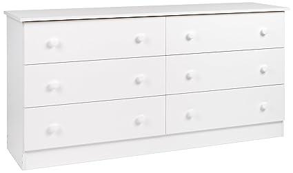 Wonderful Prepac White 6 Drawer Dresser