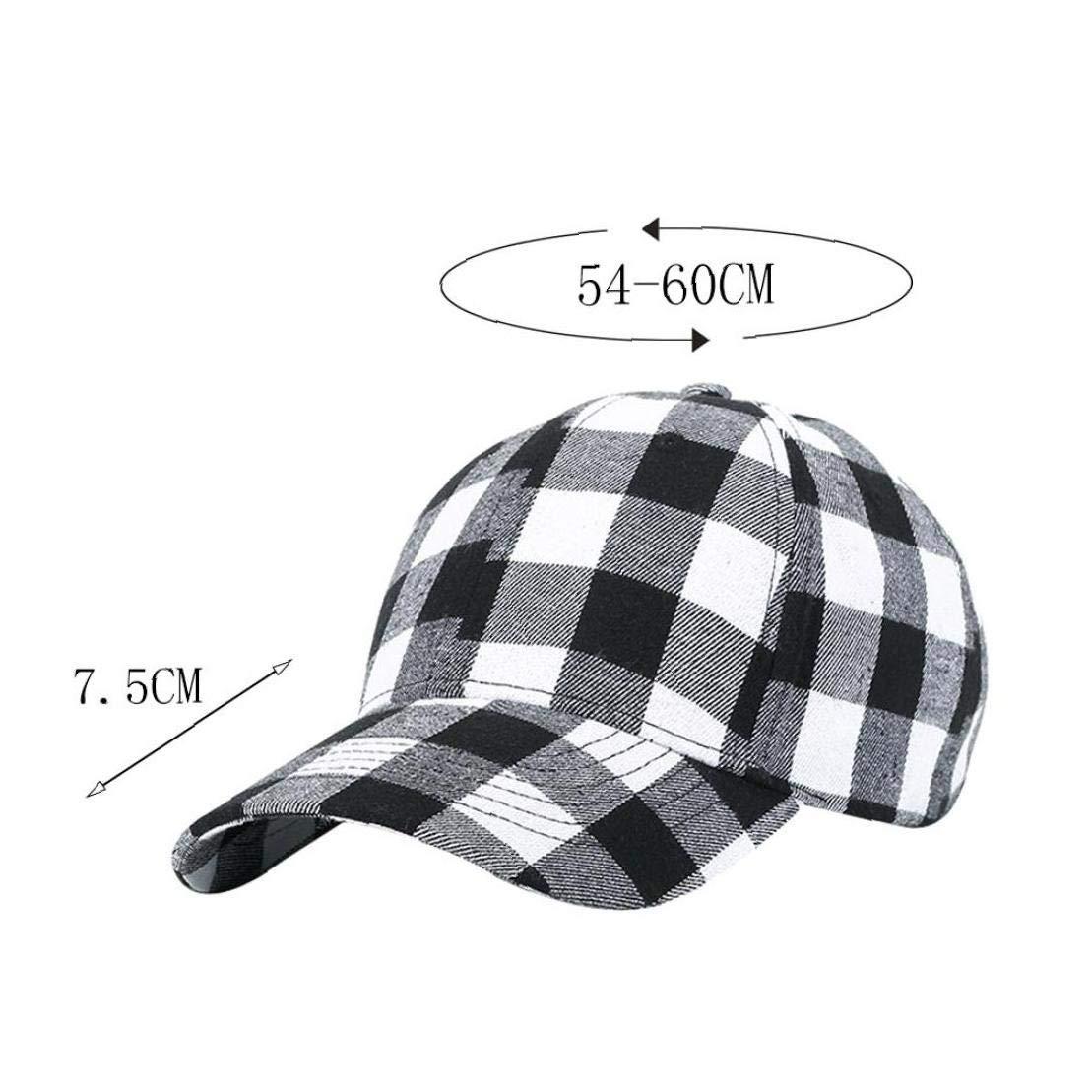 Imprimir Unisex Gorra De B/éisbol Suave De Algod/ón A Cuadros Sombreros Al Aire Libre Caps Hip Hop Ajustable Sombreros para Los Hombres De Las Mujeres