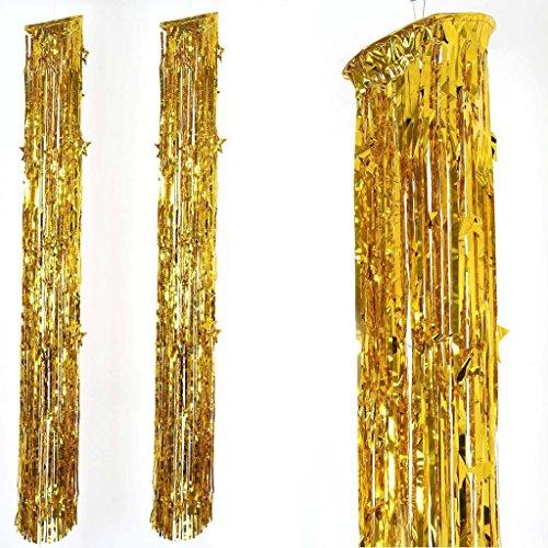 Efavormart Glinting Metallic Foil Fringe Chandelier for Wedding Birthday Party Dance Banquet Event Decoration - -