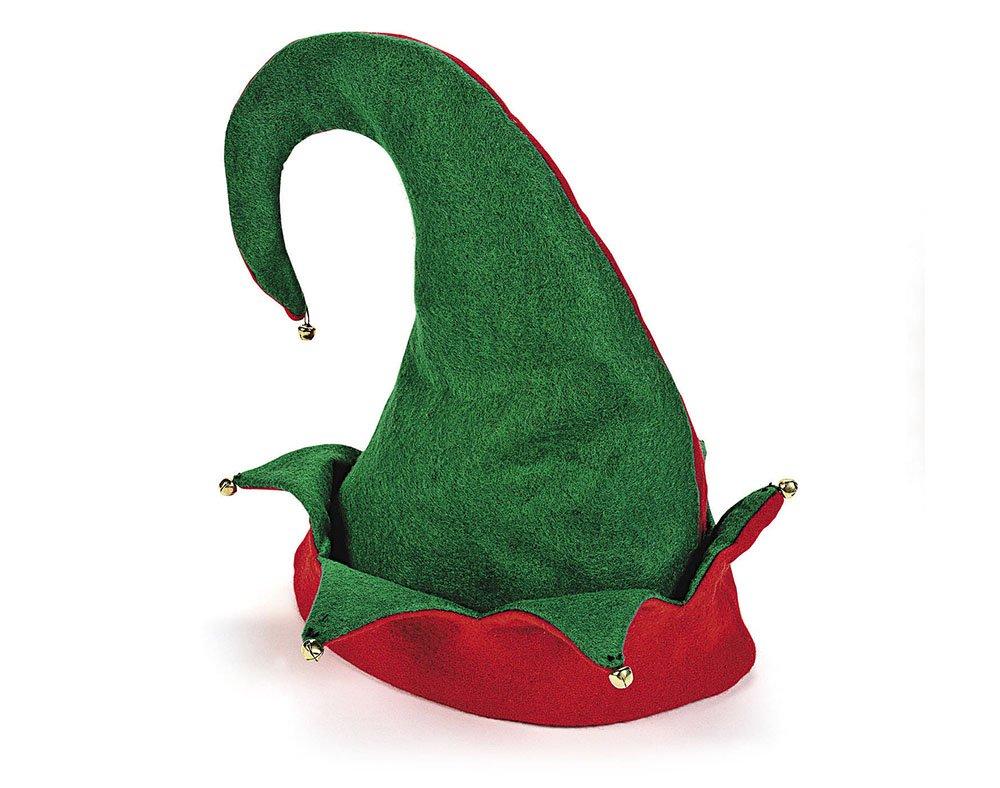 Felt Christmas Elf Hat with Mini Jingle Bells   Christmas Fancy Dress