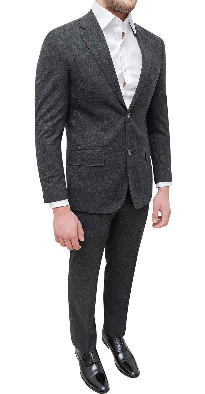 Evoga Abito completo uomo sartoriale grigio scuro lana tweed invernale elegante