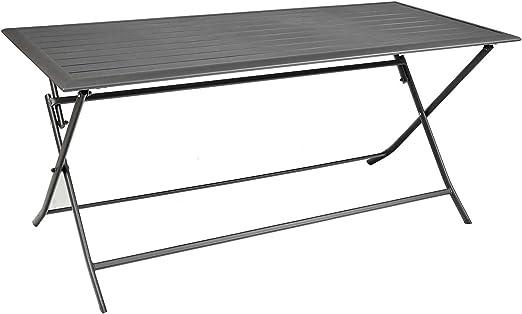 Imagin 6045 Table Pliante Gris 1 X 2 X 3 Cm Amazon Fr Jardin