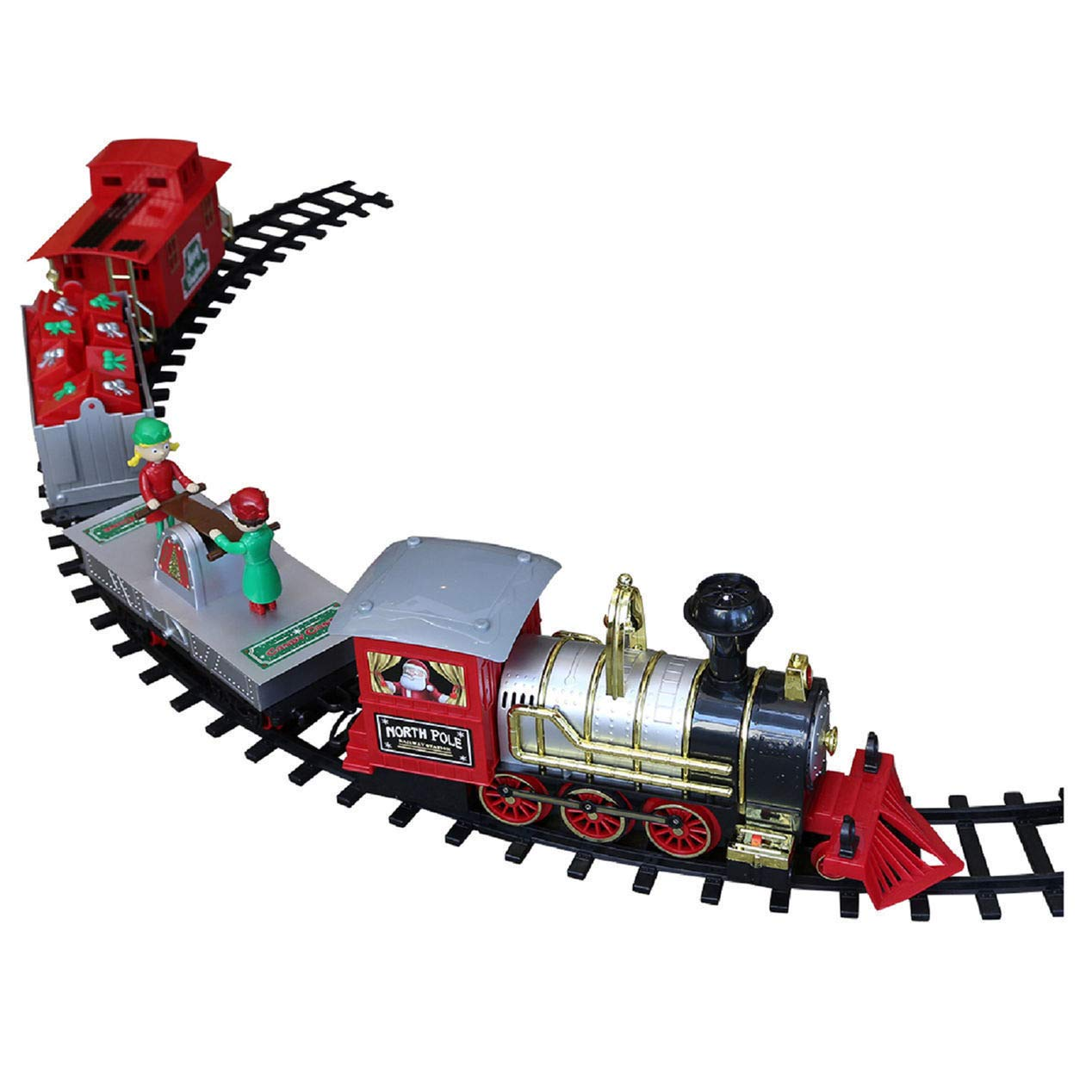 Amazon.com: Blue Hat North Pole Junction Christmas Train Set -34 ...