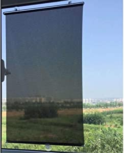 Wakauto 1PCS Blackout Blind Shade with Suction Cups Temporary Portable Window Cover Curtain 49 x 23 inches