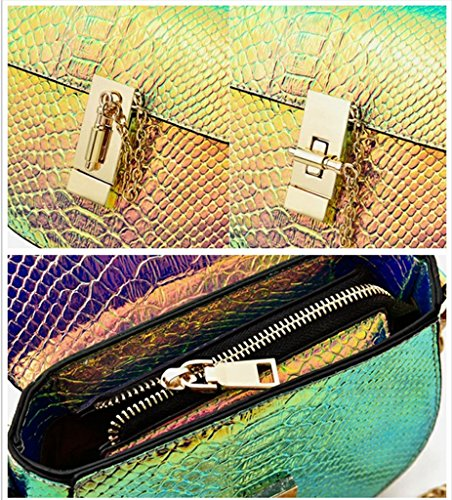 Skin Women Purse Marchome Hologram Girls Shoulder Style Pu Crossbody Snake Bag Leather pIPwdqP