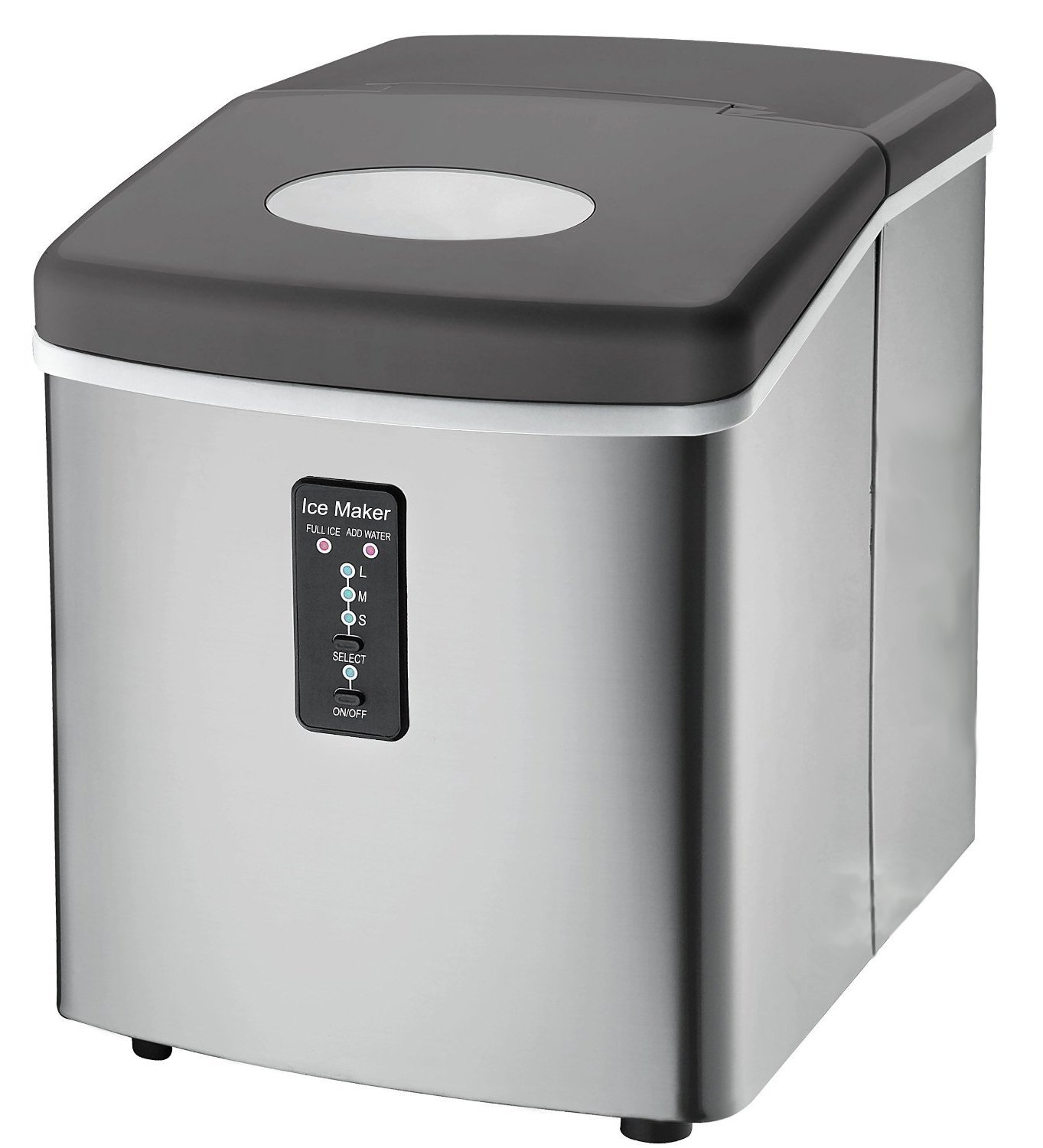 Cube Ice Maker Ice Maker Machine Portable Compact Countertop 26 Lbs Cube Nugget