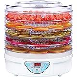 5トレイプレミアムエレクトリカル食品脱水機マシン-245w-デジタルタイマーオートシャットオフ-35℃で70℃まで、牛肉乾燥用ジャッキーフルーツ野菜&ナッツBPAフリー