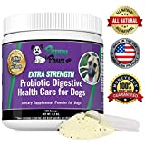 Best Probiotics for Dogs with Acidophilus Improves Dog Constipation, Gas, Dog Diarrhea, Bad Breath, Allergies, All Natural Dog Probiotic Powder, 5 Billion CFUs, Probiotics for Puppies to Seniors Review