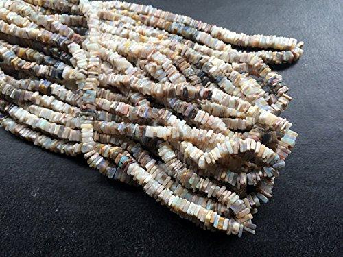 1 Strand Natural Australian Tiffany Square Heishi Beads, Tiffany Opal Necklace, 5mm Approx., 16 - Tiffanys India
