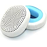 Replacement Earpads Ear Pads Ear Cushion Cover Compatible with Skullcandy Riff Wireless On-Ear Headphones (White)
