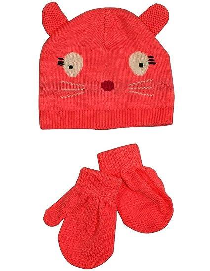 Amazon.com  Winter Warm-Up - Baby Girls Hat and Mitten Set 2887becd312