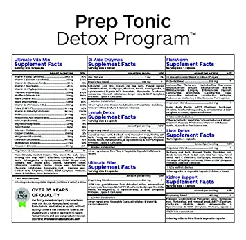 Professional Botanicals Prep Tonic Program – Gentle Detoxification Multi Organ Cleanse and Tune Up – Metabolism Energy Support – 30 packets