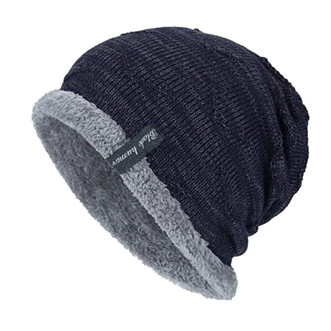 Amazon.com  Fashion Boys Men Winter Hat Knit Scarf Cap Men Caps Warm ... 8992173d7bc