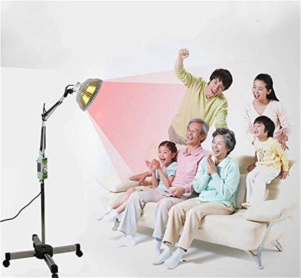 DInfrared 300W TDP Far Infrared Mineral Heat Lamp Therapy Acupuncture Light Detachable Head Floor Model