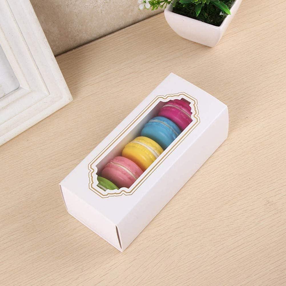 emballage recyclable Hanwuo Bo/îte /à macarons 10 bo/îtes /à macarons avec fen/être transparente sans taches