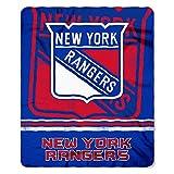 NHL New York Rangers Fade Away Printed Fleece Throw, 50-inch by 60-inch