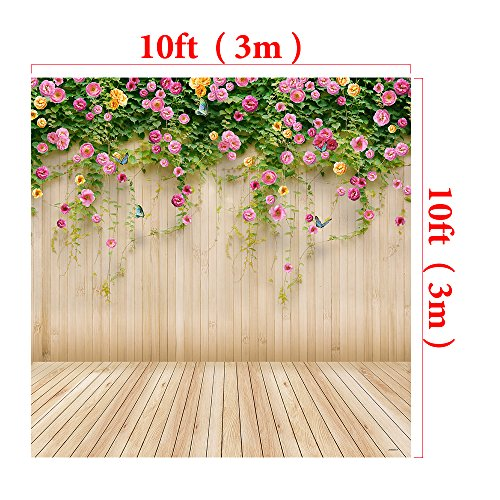 Kate10x10ft Spring Photography Backdrop Wood Wall Background Microfiber Seamless Backdrops by Kate (Image #2)