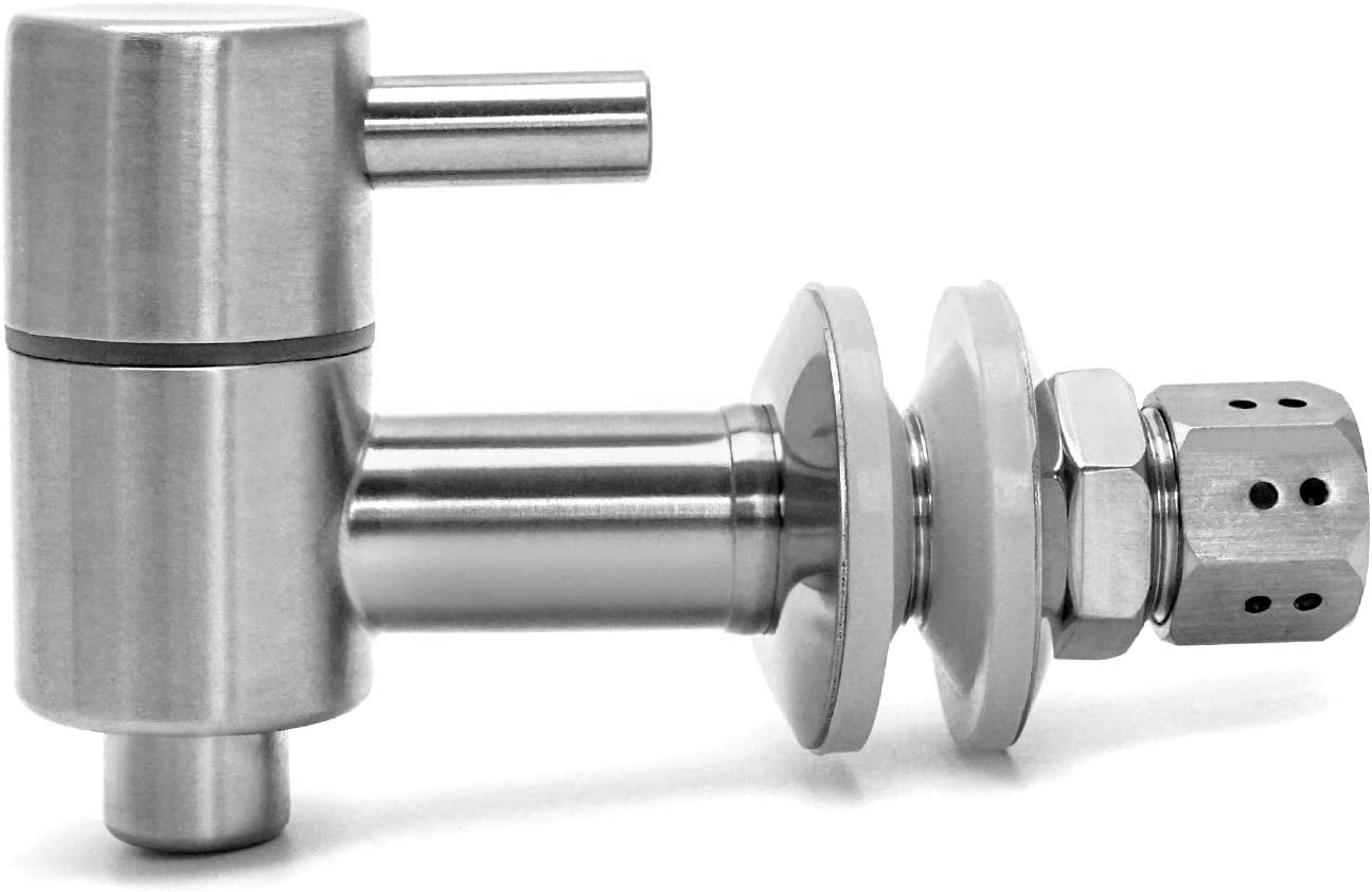 QWORK Stainless Steel Faucets, Food Grade Metal Replacement Spigot