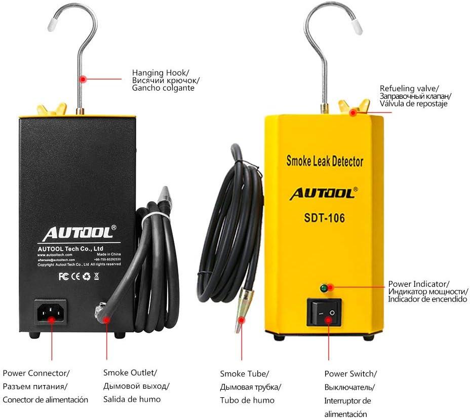 3T6B Smoke Leak Detector for Car Smoke Machine Leak Detector Diagnostic SDT-106 Automotive Leak Locator Tester