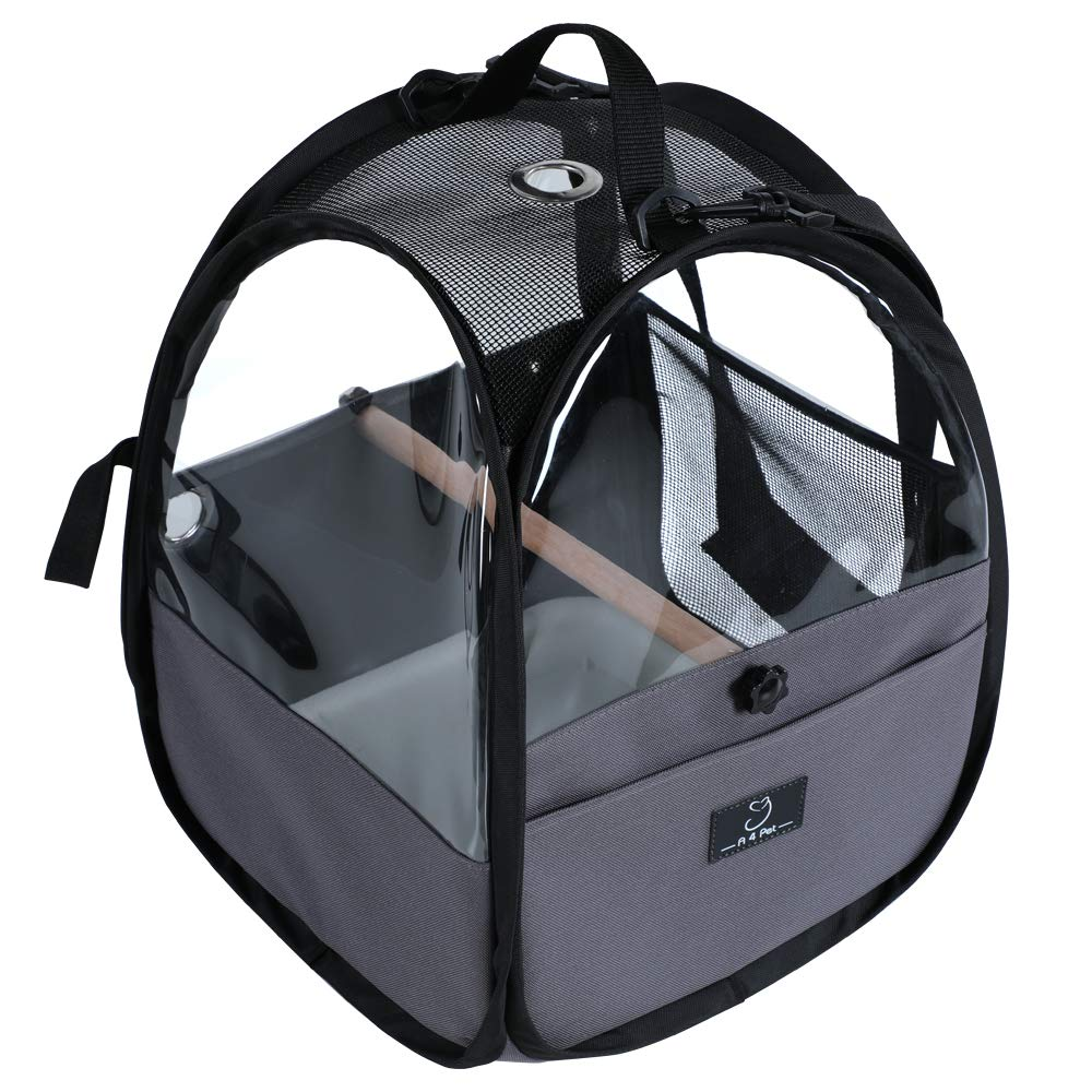 A4Pet Bird Travel Carrier Parrot Carrier Transparent Breathable Bird Cage,Include Bottom Tray for Easy Cleaning by A4Pet