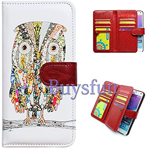 Bfun Packing Bcov Colorful Owl Multifunction 9 Card Slots Purse Leather Cover Case For Samsung Galaxy S7 Edge Sales