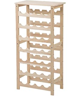 New Tall Wooden Wine Rack