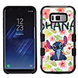 for Samsung Galaxy S8, Hard+Rubber Dual Layer Hybrid Heavy-Duty Rugged Armor Cover Case - Stitch #Ohana