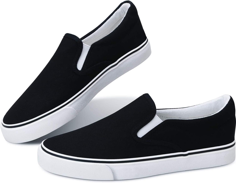 White Sneakers Black Slip on Shoes