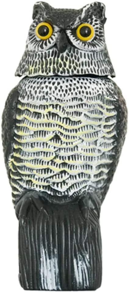 152 eronde Owl Decoy Garden Fake Owl Decoys with Rotating Head Garden Bird Repellent – for Birds, Squirrels, Mice, Rabbits & More