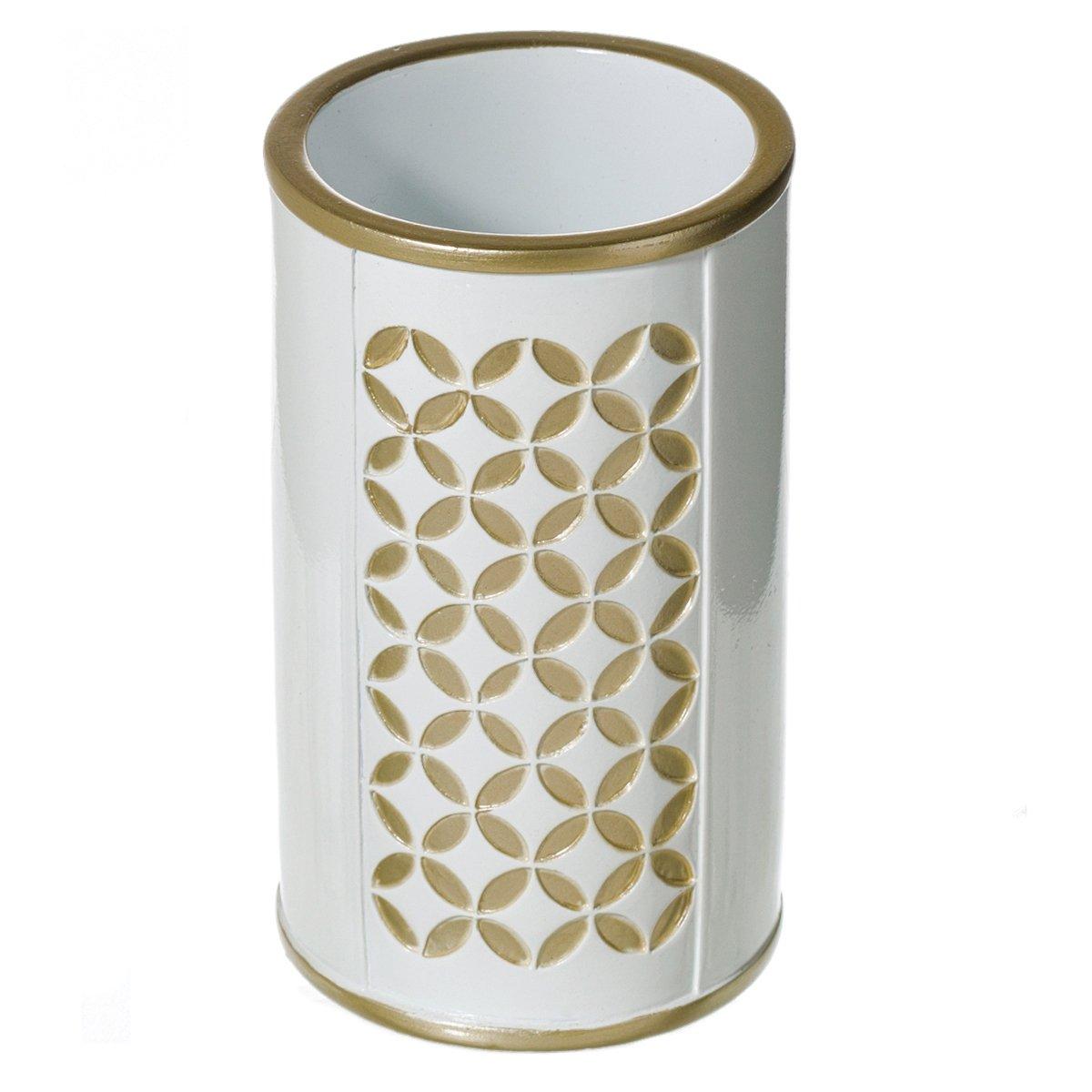Diamond Lattice 4Pc Bath Accessory Sets- Decorative Lotion Dispenser ...